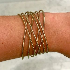 Gold Crossover Bangles
